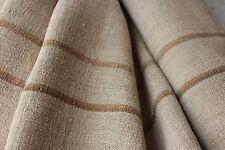 Grain sack grainsack fabric vintage linen 6.6 yd Washed hemp bolt upholstery
