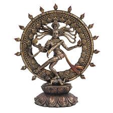 Shiva Nataraja Divine Dancer Hinduism India Goddess Figurine Statue Bronze Color