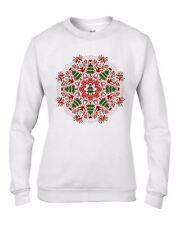 Christmas Tree Mandala Women's Sweatshirt Jumper