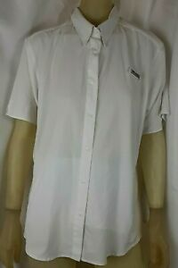 Columbia PFG Womens Omni Shade Shirt White Button Front Vented Size XL