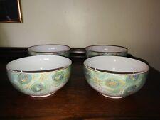 """EXCELLENT - Set of 4 - 222 Fifth """"Lakshmi"""" Porcelain Cereal Bowls"""