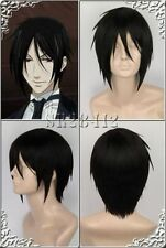 Sebastian·Michaelis short short Straight Anime party Cosplay+ Free wigs cap