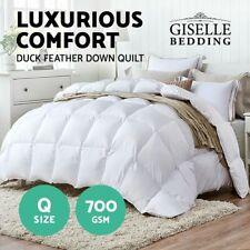 Giselle Bedding 700gsm Queen Size Duck Down Feather Quilt Doona Blanket