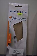 Pirrella Ceiling Fan Sleeves Blade Cover BROWN (Timber) 3pk Catch Dust Fan Sock