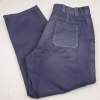 Burberry London Women's Pants Size 50 Button Fly Cotton Blue