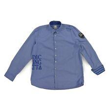 GAASTRA Herren Hemd XL 54 blau kariert Nautical langarm Oberteil Men shirt w.NEU