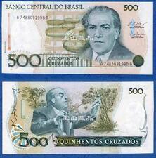 巴西 1986年 500克鲁塞罗 AA版 纪念钞 全新 Brasil 1986 500 Cruzados Commemorative (UNC)