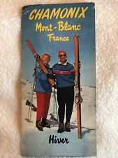 Chamonix Mont-Blanc France Hiver Printemps Map Skiing Olympics Travel Vintage