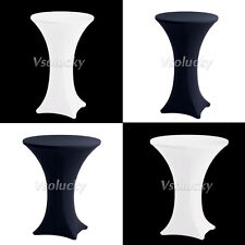 10pcs Lycra Stretch Fitted Cocktail Dry Bar Spandex Table Covers Wedding Party
