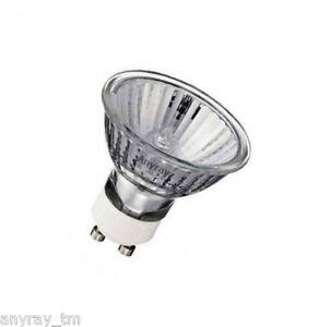 (12)-Lamps 50Watt  GU10+C 110V 50W 120V 50-Watt MR-16 Halogen Light Bulb Anyray