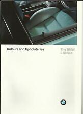 BMW 3 SERIES COLOURS AND UPHOLSTERIES SALES BROCHURE 1996 1997