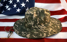 LARGE BOONIE CAMO BUSH HAT CAP BROWN CAMOFLAUGE US NAVY MARINES ARMY AIR FORCE