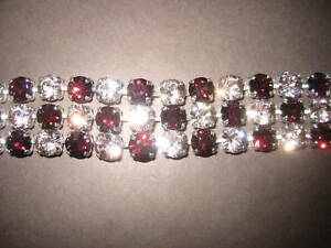 Designer Armband  burgund/rose - NEU