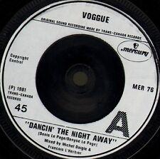 """VOGGUE dancin' the night away/roller boogie MER 76 uk mercury 1981 7"""" WS EX/"""