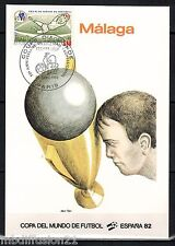 1982//**FDC.CP 1°JOUR**COUPE DU MONDE-FOOTBALL-MALAGA.1982**TIMBRE Y/T 2209