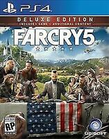 Far Cry 5 Deluxe Edition (Sony PlayStation 4, 2018) PS4 Ps4