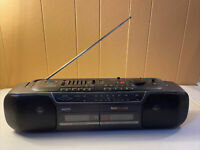 VINTAGE Sanyo MW-740 Stereo Dual Cassette Recorder Boombox Tested and Working