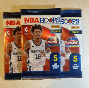 2020-21 NBA PANINI HOOPS SEALED PACK OF 5 Cards 📈📈🔥🔥