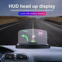 Head Up Display 360°car Gps Holder Speedometers Speeding Warning For-Safety