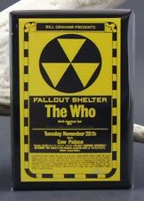 "The Who Fallout Shelter Concert Poster 2"" X 3"" Fridge Magnet. Cow Palace 1973"