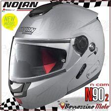 CASCO MOTO APRIBILE MODULARE NOLAN N90-2 SPECIAL N-COM SALT SILVER ARGENTO 011 L
