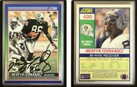 Mervyn Fernandez Signed 1990 Score #430 Card Los Angeles Raiders Auto Autograph