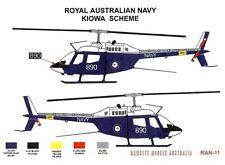 1/48 RAN Decals; Bell 206B Jetranger / Kiowa