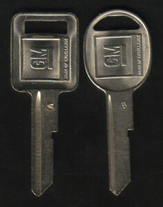 BUICK OEM A B KEY BLANKS