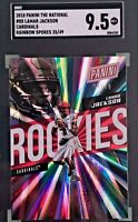 Lamar Jackson 2018 Panini The National Rookie Rainbow Spokes Prizm /49 SGC 9.5