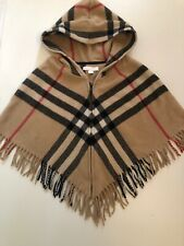 Burberry Wolle Cashmere Mantel Jacke Kapuze Poncho gr L 3 4 5 98 104 110 Check