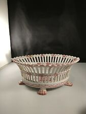 Reticulated Faience Berry Bowl