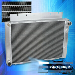For 60-63 Ford Galaxie 500 L6 V8 3 Row/Core Aluminum Performance Racing Radiator