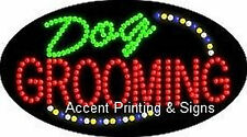 DOG GROOMING Flashing & Animated Real LED SIGN