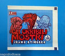 Bustina/Packet - figurine - GLI ORRIBILI MOSTRI - Jean's Stickers - Vuota-Empty