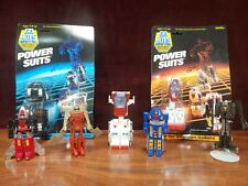 LOT OF VINTAGE GOBOTS POPY.D.S./BANDAI 4 BOTS & 3 POWER SUIT