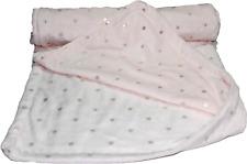 Soft plush fleece pram/moses basket/crib baby blanket - Baby Pink
