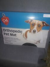 Pet Central Orthopedic Foam Pet Mat Size 29 x 18 inch Non Skid Bottom Brown NEW