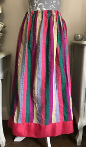 Panto Dame Fancy Dress Costume Striped Skirt Adult Theatre Show Pantomime