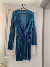 Missguided Plunge Velvet Dress Size 6