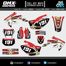 HONDA CRF 250X 2004 2005 2006 2007 FULL KIT Mx Graphics Motocross Stickers Decal