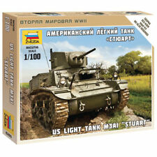 ZVEZDA 6265 Stuart M3A1 US Light Tank 1:100 Model Kit