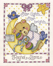 Cross Stitch Kit ~ Design Works Moon Baby Sampler Girl's Birth Record #DW9631