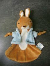doudou lapin marron bleu picot 2