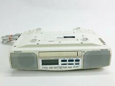 SONY  ICF-CD513 Under Cabinet Counter Kitchen Clock Radio AM FM CD Player *