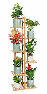 Bamboo Plant Stand Rack 6 Tier 7 Potted Indoor&Outdoor Multiple Stand Holder