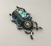 Unique Beetle insect Brooch Pendant