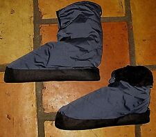 CABINISTE NAVY NYLON DOWN BOOTIES SLIPPERS SHOES MENS SIZE MEDIUM 8.5 9 9.5
