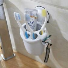 Suction Cup Toothbrush Holder White for Bathroom, Toothpaste Organiser Wall LC