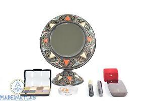 Morocco mirror makeup vanity mirror tabletop mirror Boho makeup mirror Bone deco