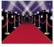 Large Red Carpet Insta-Mural Accessory 1 count 1/Pkg Hollywood Party